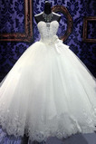 Kirche Trichter Fallen Formalen Spitze Appliques Hochzeitskleid