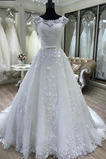 Natürliche Taille Mit geschlossenen Ärmeln Klassische Brautkleid