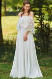 Spitze Natürliche Taille Satiniert Brautkleid mit kurzen Ärmeln