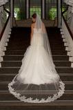 Spitze Kapelle Schleppe Lange Mit Kamm Herbst Romantisch Hochzeitsschleier