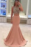 Lange Bördeln Sommer Juwel Juwel akzentuiertes Mieder Abendkleid
