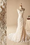 Kirche Reißverschluss Schöne Spitze Natürliche Taille Meerjungfrau Brautkleid