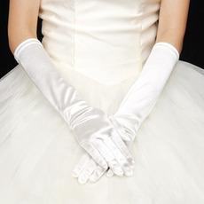 Warm Kirche Lange Vintage Volle finger Winter Hochzeit Handschuhe