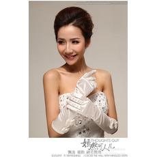 Taft Geeignete Volle finger Lange Warm Elegant Hochzeit Handschuhe