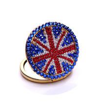 Tragbare Großhandel Nationalflagge doppelseitige Intarsien Diamant M Wort kleine Spiegel & Kamm
