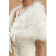 Winter Elegant Halle Elfenbein Geeignete Knopf Hochzeit Schal