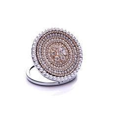 Bestnote Kreis Kreuz Metall Intarsien Diamond Werbung kleine Spiegel & Kamm