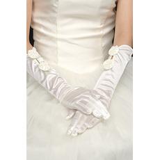 Taft Elfenbein Dünne Vintage Frühling Kirche Hochzeit Handschuhe