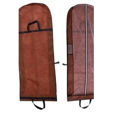 Braun Dual-Use-tragbares Kleid staubdicht Tasche falten Hochzeit Staubschutz