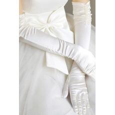 Taft Gerüscht Dicke Romantisch Outdoor Winter Hochzeit Handschuhe