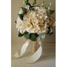 Die neue 2018 halten Blumen Beige Kleid weiße hand