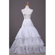 Polyester Taft Flouncing Volles Kleid Lange Zeichenfolge Modisch Hochzeit Petticoat