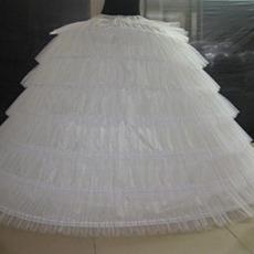 Taille Jahrgang Flouncing Sechs Felgen Volles Kleid Hochzeit Petticoat