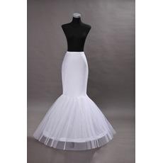 Elasthan Meerjungfrau Einzelne Felgen Hochzeitskleid Weiß Hochzeit Petticoat