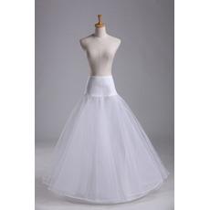 Hochzeitskleid Elastische Taille Modisch Elastisches Material Hochzeit Petticoat