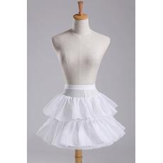 Kurzes Kleid Modisch Elastische Taille Starkes Netz Hochzeit Petticoat