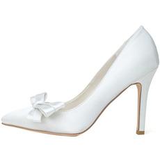Satinschleife mit Pfennigabsätzen Prinzessin Schuhe Hochzeitsschuhe