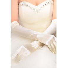 Volle finger Schlicht Taft Geeignete Warm Halle Hochzeit Handschuhe