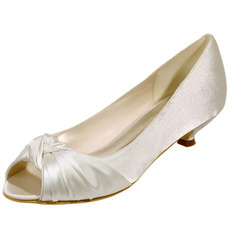 Brautschuhe Fischmund Hochzeitsschuhe Satin Party Schuhe