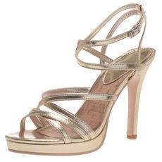 11CM goldene Absatzplattformsandalen arbeiten die Schuhe der Frauen um