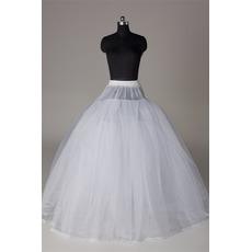 Rahmenlose Elegante Starkes Netz Doppelgarn Hochzeitskleid Hochzeit Petticoat