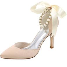 Frühling und Sommer Modelle sexy flachen Mund spitzen High Heels Schnalle feine Fersen Schuhe