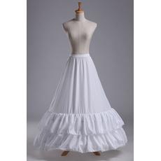 Meerjungfrau Spitzenbesatz Zwei Felgen Modisch Polyester Taft Hochzeit Petticoat