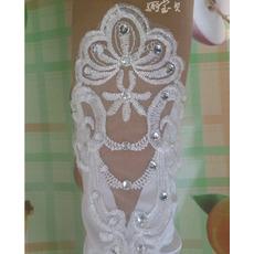 Handschuh Sexy Pailletten Transluzent Lange Sommer Hochzeit Handschuhe