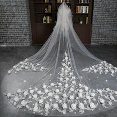 Braut Retro Schleier Hochzeit schleppend langen Schleier Blumenschleier