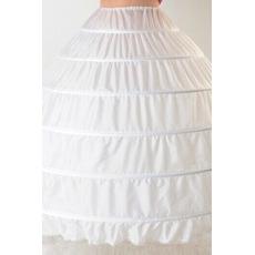 Zeichenfolge Hochzeitskleid Sechs Felgen Erweitern Hochzeit Petticoat
