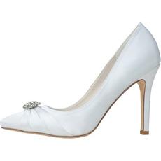 New Strass spitzen Schuhen Satin Frauen Hochzeit Schuhe Brautjungfernschuhe