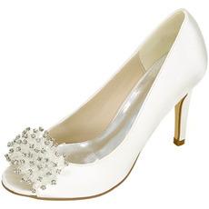 Hochzeit Damenschuhe flachen Mund Fischkopf High Heels Strass einzelne Schuhe Brautjungfer Bankett Kleid Sandalen