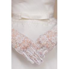Weiß Spitze Spitze Kurze Dünne multifunktionale Hochzeit Handschuhe