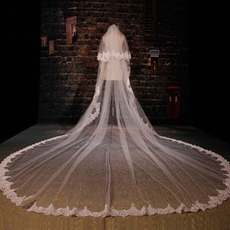 Großer Schleppspitzenschleier Brautschleier langer Schleier Hochzeitsschleier