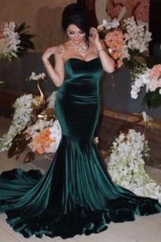 Lange Fallen Reißverschluss Ärmellos Natürliche Taille Abendkleid