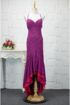 Juwel akzentuiertes Mieder Fiel Taille Meerjungfrau Abendkleid