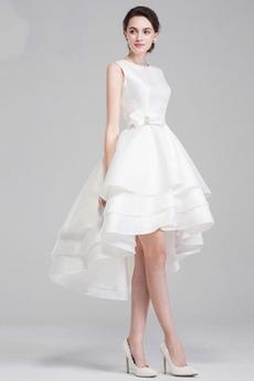 Juwel Asymmetrisch asymmetrische Mehrschichtig Hochzeitskleid