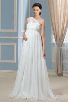 Frühling Frenal Fegen zug Draussen Bördeln Übergröße Hochzeitskleid