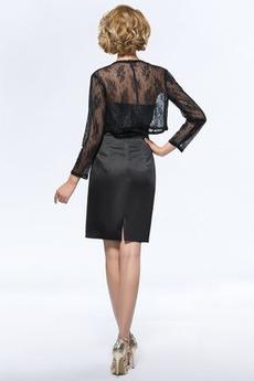 Illusionshülsen Elegante Sommer Mantel Trägerlose Mutter Kleid