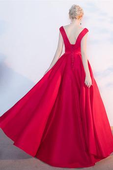 Fegen zug Formalen Natürliche Taille Fallen Ärmellos Abendkleid