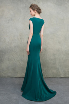 Frenal Spandex Ärmellos Natürliche Taille Bodenlänge Abendkleid
