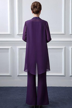 Bördeln Knöchellänge Bateau T Hemd Dünn Klassische Mutter Kleid