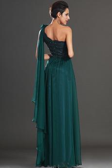 Mantel Zusammengesetzte Chiffon Klassisch Drapiert Abendkleid