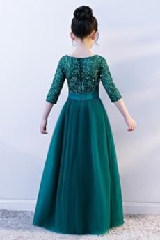 Schöne Länge des Bodens Leistung Trichter Kleine Mädchen Kleid