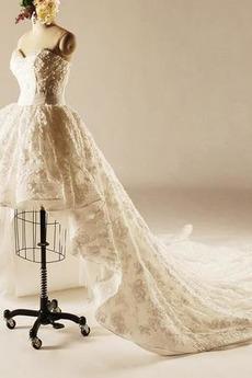 Natürliche Taille Kathedrale Zug Schatz Formalen Hochzeitskleid