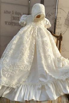 Fallen Trichter Kurze Ärmel Zeremonie Prinzessin Blumenmädchen kleid