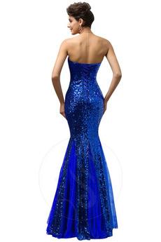 Schatz Knöchel Länge Fallen Sternenklar Meerjungfrau Abendkleid