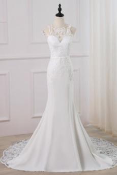 Appliques Spitzenüberlagerung Reißverschluss Juwel Hochzeitskleid