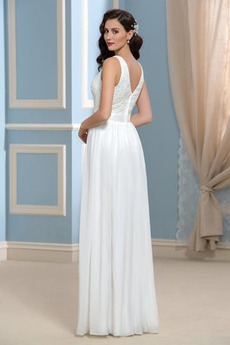 A Linie Einfach Strand Ärmellos Fegen zug Reißverschluss Hochzeitskleid