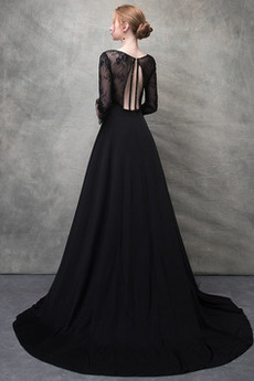 V-Ausschnitt Fallen Akzentuierte Rosette Satiniert Abendkleid